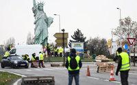 Gilet gialli: quarto weekend di perdite per i commercianti francesi