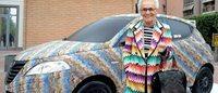 """Apre la mostra """"Missoni, l'Arte, il Colore"""" e Lancia omaggia la maison con un'auto 'speciale'"""