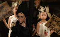 Franck Sorbier reintroduces ready-to-wear at haute couture show with animal rights focus