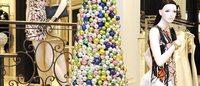 当时装设计师出手设计圣诞树…