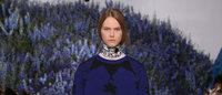 ディオール、ルーブル中庭の青い花で覆われた丘で新作発表 16年春夏