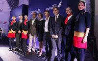 Iberia Express viste por primera vez de firma, la española El Ganso