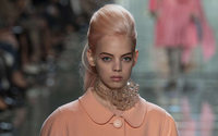Colorful hair trends hard on the catwalks of New York, London and Milan
