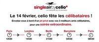 Saint Valentin: Celio offre un vol en jet privé aux célibataires