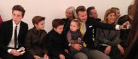 Beckham family front row for Victoria's New York show