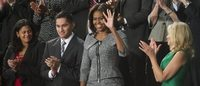 "Michelle Obama de Michael Kors, mesmo trajo do ícone da série ""The Good Wife"""