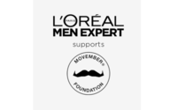 L'Oréal Men Expert ist erneut offizieller Partner der Movember Foundation und spendet 1 Million Euro