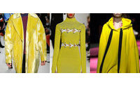 Geraldine Wharry: Key colour on the Fall Winter 2016 Catwalks: Bumble Bee Yellow