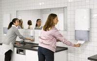 Neues Spendersystem bietet maximales Fassungsvermögen für hochfrequentierte Waschräume