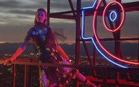 Amanda Murphy cuts a mysterious figure in Prada's 'Neon Dream' campaign