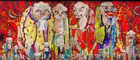 村上隆の14年ぶり国内個展「五百羅漢図展」全作品が日本初公開