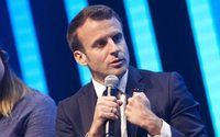 Emmanuel Macron à l'ouverture du salon international des start-up VivaTech à Paris