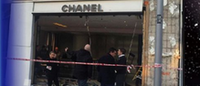 Burglars smash car into a Chanel storefront in west London
