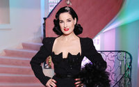 Ulyana Sergeenko throws a glamorous party with Dita von Teese