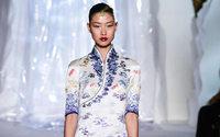 Laurence Xu Haute Couture runway presents airline uniforms