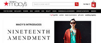 Macy's launches collaboration with fashion startup, Nineteenth Amendment