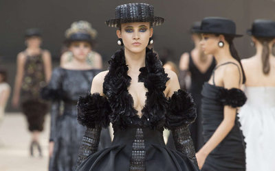 Image result for Strong Hats And Slender Belts; Accessories Spotted At Chanel And Dior's Fall 17-18 Show In Paris