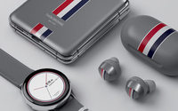 Thom Browne celebrates Samsung phone collaboration with office theatrics