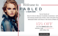 Premium beauty launch Fabled boosts Ocado
