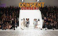 Feministische Leuchtschriften und Anspielung auf Coronavirus bei Dior