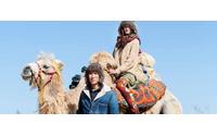 Kapital fotografa peregrinos da paz na Mongólia para o seu inverno
