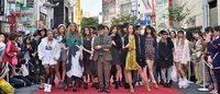 第3回渋谷ファッションウィーク、金王八幡宮の参道がランウェイに
