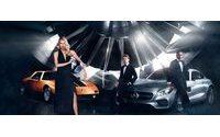 Dree Hemingway et Lewis Hamilton werben für Mercedes Benz und dessen Fashion Weeks