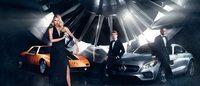 Dree Hemingway et Lewis Hamilton prennent la pose pour Mercedes-Benz et ses fashion weeks