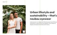 Neubau Eyewear mit Green Good Design Award ausgezeichnet