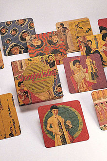 A Taste Of China Design Around The Table  Alan Chan Creation Calendar Girls Paper Coaster