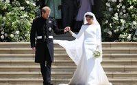 Les tenues de mariage de Meghan Markle et du prince Harry exposées au château de Windsor