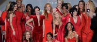 Celebrities strut catwalk for Red Dress Runway gala