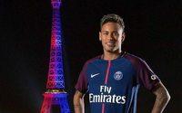 Lojas do Paris Saint-Germain aumentam os lucros com Neymar