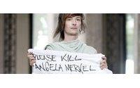 Un modelo de Rick Owens desata la polémica al pedir que se mate a Merkel