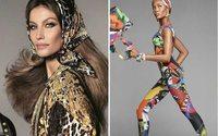 Versace создал кампанию весенней коллекции в честь 40-летия модного дома