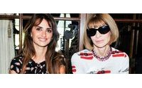Penélope Cruz y Anna Wintour juntas en la semana de la moda en Nueva York
