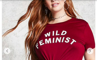 Forever 21 rips off Wildfang's popular Wild Feminist t-shirt