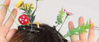 頭の上が花畑に、中国で流行中のヘアアクセ「ヘッドファーム」が日本初上陸