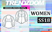 Trendzoom: Design Forecast Women Dresses/Woven Tops S/S 18