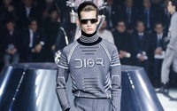 Dior Men in Tokyo: Modernist tailoring before a giant warrior woman