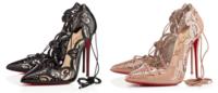Christian Louboutin apresenta novos scarpins com amarrações