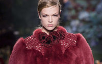 Fendi and a touching triple bow by Karl Lagerfeld