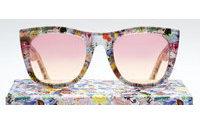 Óculos Hello Kitty com hastes estampadas