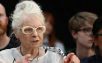 Designer Westwood stages London fashion fracking protest