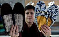 Jovem de Seia garante continuidade dos chinelos de pano típicos da Serra da Estrela