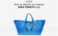 "Ikea releases tips on how to spot an ""original"" blue shopping bag from the Balenciaga version"
