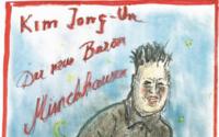 Karl Lagerfeld verspottet Kim Jong-un als Baron Münchhausen in seiner neusten Karikatur