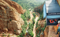 Cocona installs a pop-up shop on the side of a Colorado cliff