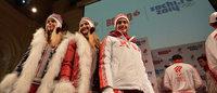 俄罗斯队举行新款奥运服装展示会