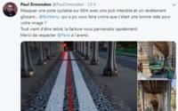 Burberry épinglé pour avoir recouvert une piste cyclable parisienne avec une campagne sauvage
